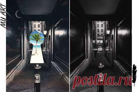 """#фото #фоторетушь #фототворчество #фотоарт #фотоискусство #photodirector Это фото, которое сделала в photodirector я назвала """"Свет в конце тунеля"""". )))"""