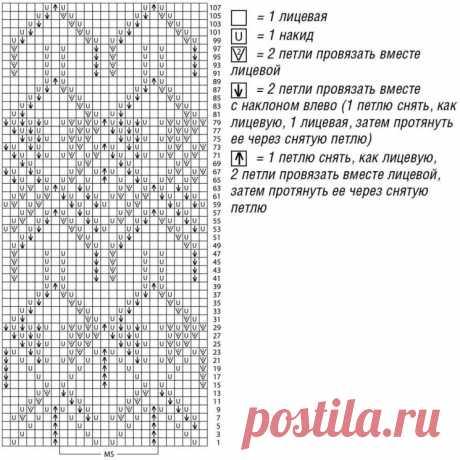 Свободный джемпер с ажурными ромбами (Вязание спицами) – Журнал Вдохновение Рукодельницы