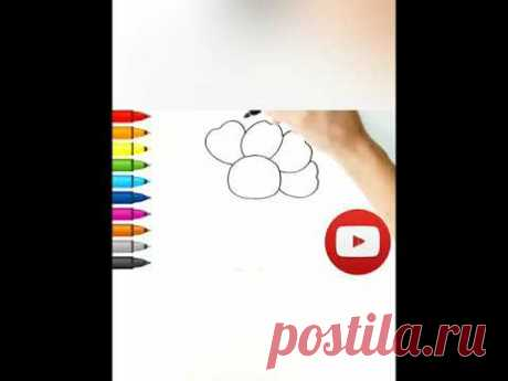 Как нарисовать цветок 🌸 #shorts