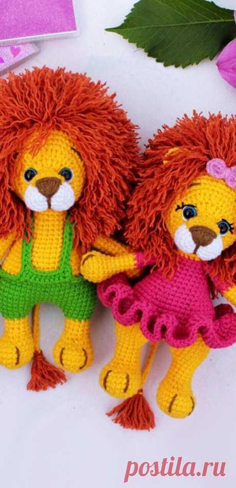 PDF Малыш Лёва крючком. FREE crochet pattern; Аmigurumi animal patterns. Амигуруми схемы и описания на русском. Вязаные игрушки и поделки своими руками #amimore - лев, львёнок, котик, кот, кошечка, кошка, котенок.