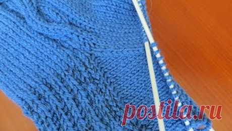 Como tejer la cuña de la elevación del calcetín Variante 1