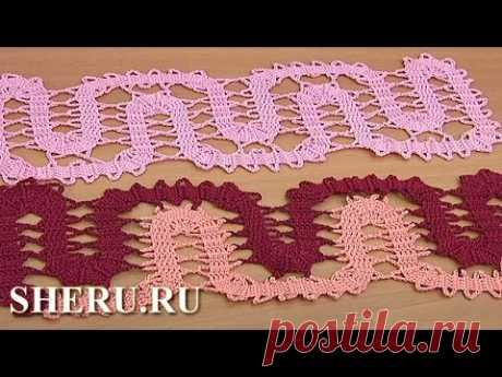 Crochet Bruges Ornament  Урок 17 часть 1 из 3 Кайма крючком