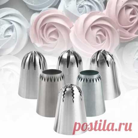 Большая роза цветок  насадки для украшения тортов