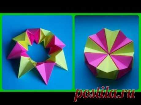Эту классную оригами игрушку антистресс из бумаги без клея сделает каждый буквально за несколько минут. Понадобится сделать всего 8 деталей, которые складыва...