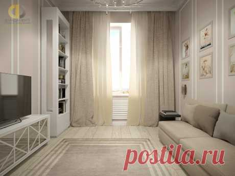 Дизайн интерьера трёхкомнатной квартиры 70 кв.м в стиле неоклассика