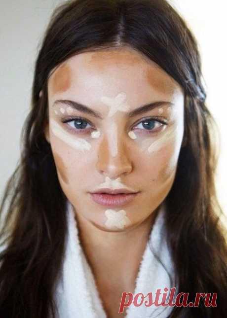 Как наносить тональный крем и консилер | Надо попробовать | Makeup, Contours and Hair makeup