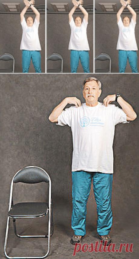 Упражнения для людей старшего возраста от Павла Смолянского  Задача гимнастики – адаптировать организм к повседневным нагрузкам, отрегулировать работу сердечно-сосудистой, вегетативной, нервно-мышечной систем, укрепить опорно-двигательный аппарат, создать хорошее настроение людям среднего и старшего возраста.Все упражнения надо выполнять с улыбкой и под музыку.