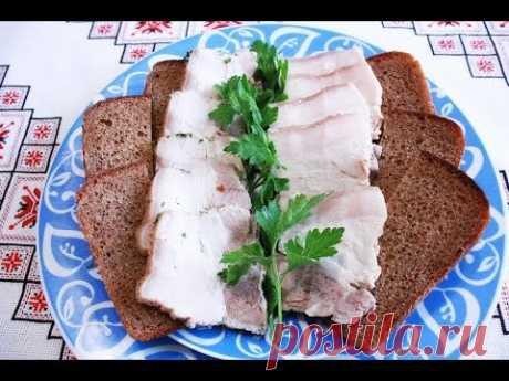 Сало в рассоле вкуснейший рецепт Вареное сало Сало варене в розсолі Шпондер мясний украинское сало - YouTube