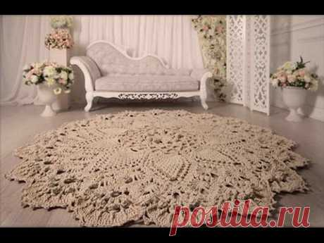 Knitted carpet Grandee. A master class from Anfisa Voroshilova