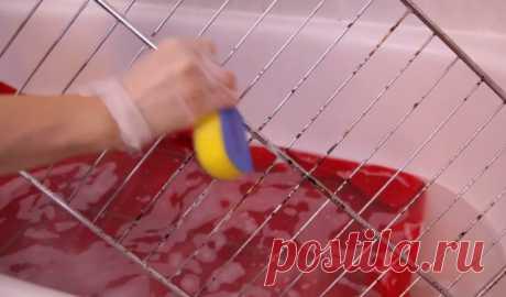 Секрет легкой очистки решетки для духовки — Полезные советы