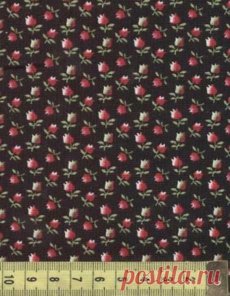 Каликос тюльпаны на черном W32044-3