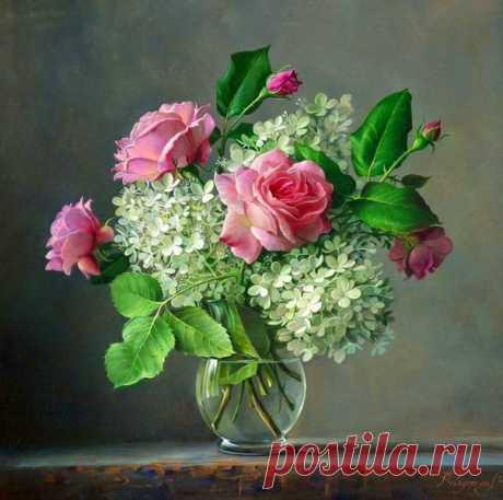 Нежные цветы бельгийского художника Pieter Wagemans