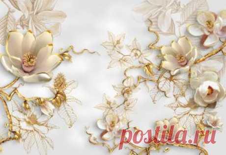 Фотообои 3д цветы 435345247 Купить на стену в Украине