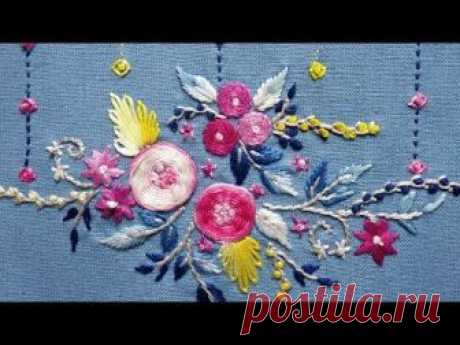 223-Beautiful designs with very simple stitches for bedsheets(Hindi/Urdu)