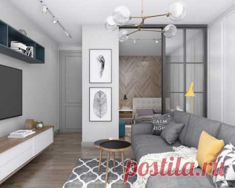Как однушку в панельной новостройке превратили в двушку Дизайнер Нина Шуберт сделала перепланировку и создала приватную спальню в однокомнатной квартире Посмотреть целиком: