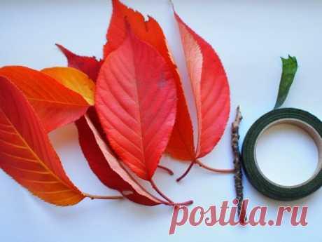 Превратите скучные осенние листья в невероятно красивые розы   Люблю Себя