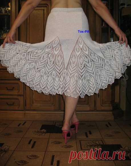ВЯЗАНЫЙ ШИК: Красивая юбка