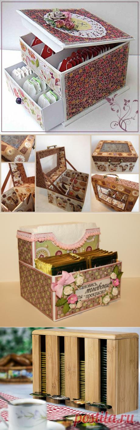 Коробка под чайные пакетики своими руками — Строй фасад
