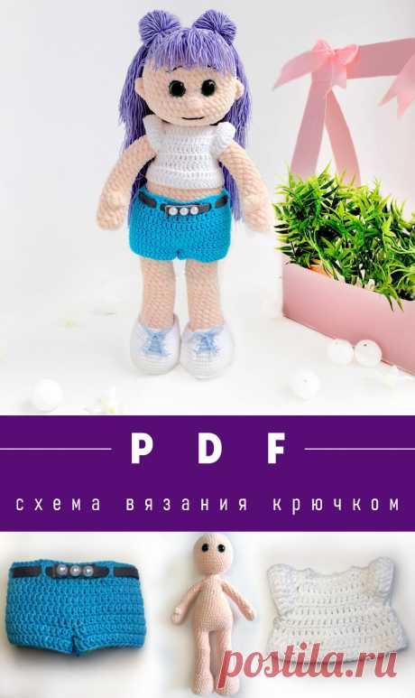 Кукла крючком с одеждой подробная схема вязания с описанием для начинающих
