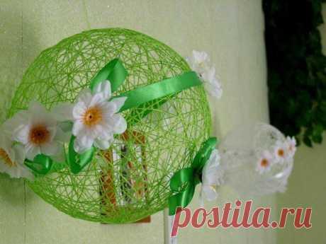 шары-паутинки  Необходимые материалы: шарик надувной нитки (лучше всего использовать «Ирис» — идеальные по толщине)