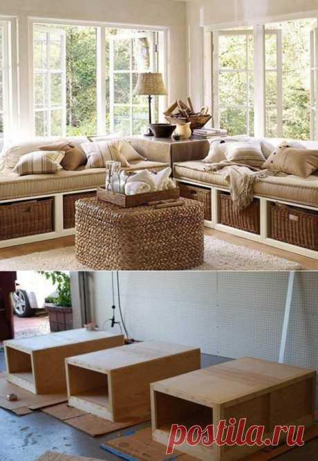 Как сделать симпатичный диван собственными руками.