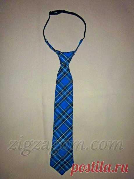 Как сшить галстук на резинке своими руками?
