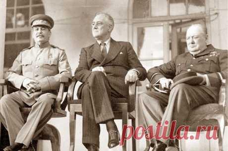 «Большая тройка» онлайн. Сталин, Рузвельт и Черчилль на выставке Росархива Сталин, Рузвельт и Черчилль — соединение этих трех имен навсегда осталось в истории персональным олицетворением антигитлеровской коалиции.