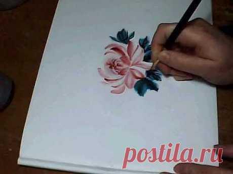 Роспись, имитация китайской росписи, irishkalia - YouTube