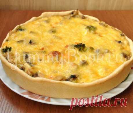 Лоранский пирог с грибами и курицей   Любимые рецепты