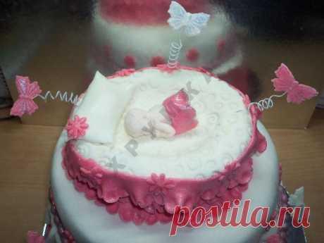 Торт Младенец из мастики рецепт с фото пошагово - 1000.menu