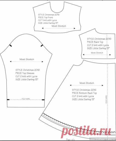 Выкройка платья для куклы Dianna Effner / Выкройки и мастер классы по одежде для кукол-детей / Бэйбики. Куклы фото. Одежда для кукол