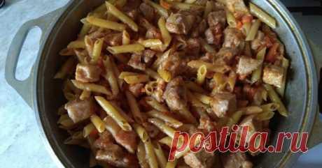 Очень интересный татарский способ приготовить макароны с мясом
