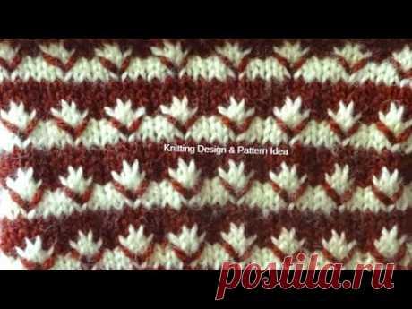 दो कलर में स्वेटर का डिजाइन | two colour knitting pattern & sweater bunai for gents in hindi.