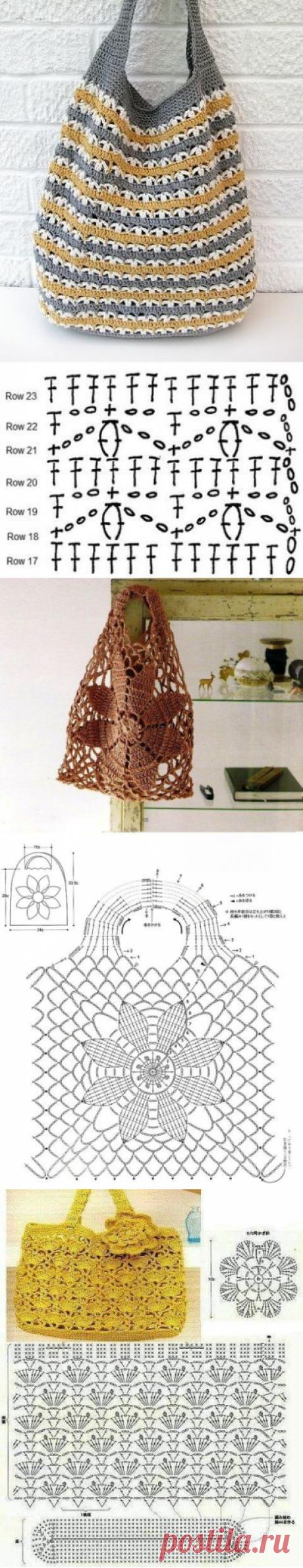 Вязаные летние сумочки, подойдет для конкурса! из категории Интересные идеи – Вязаные идеи, идеи для вязания