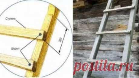 Приставная лестница и ее самостоятельное изготовление Приставная лестница из дерева, особенности ее изготовления, советы по правильному расчету изделия. Обработка готовой лестницы.