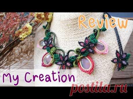 (Отзыв) My Creation Macrame Knots Ожерелья, узоры, дизайн, бижутерия, камень, вощеный шнур