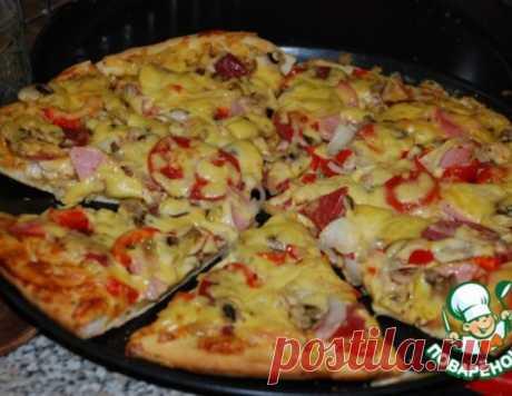 Пицца с курицей и пицца с салями