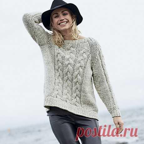 """Melange jumper with \""""braids\"""" - Verena.ru"""
