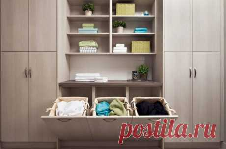 How to equip a laundry place in the small apartment