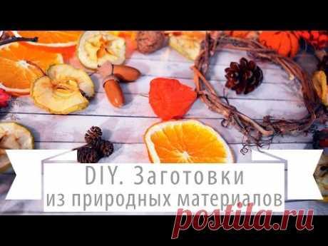 Заготовки для поделок. Как сушить фрукты для декора.