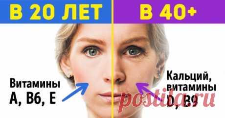 Каких витаминов нехватает организму в20, 30и40лет | Милая Я «Нужно попить витамины»,— часто говориммы, понимая, что организму нужна поддержка. Нокак это сделать правильно? Ведь явно в20лет ив40потребности будут разными. Milayaya.ru собрал полезные подсказки, накаких витаминах иминералах стоит сделать акцент взависимости отвозраста ипроблем, которые зачастую сним приходят. Фото на превью depositphotos По материалам cnn, besthealthmag, ilive, livestrong