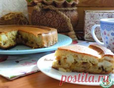 Заливной пирог с жареными овощами - кулинарный рецепт