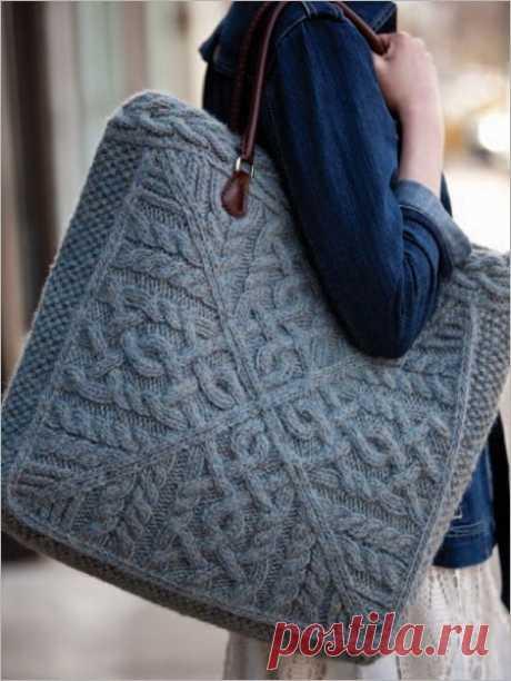 Вязаная сумка Модная одежда и дизайн интерьера своими руками