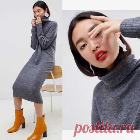 Платье-свитер в образах — Красота и мода
