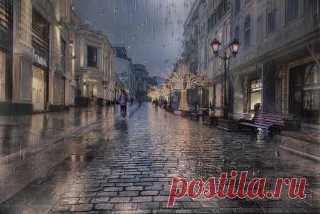Фото Снова дожди - фотограф Ирина З. - стрит-фото, город, фотомонтаж - ФотоФорум.ру