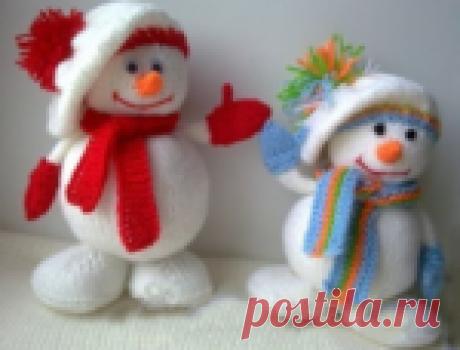 Милых,веселых снеговиков свяжем сами