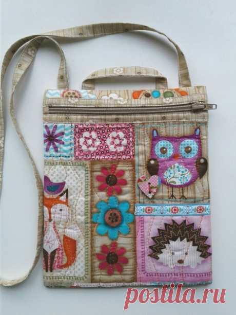 Предлагаю в канун праздника детства мастер-класс по пошиву сумочки для девочки, размером 18 х 21,5 см.