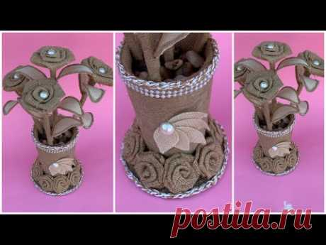 DIY Jute RopeFlower Vase/Diy Jute Vase/ Diy Flower Vase/Jute Home Decor