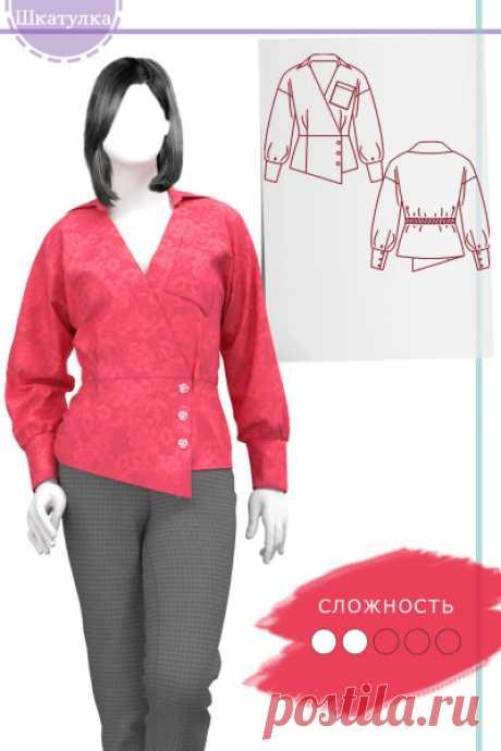 Выкройка женской блузки WT150121