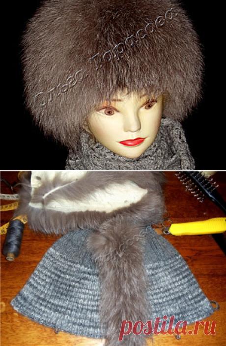 Изготовление меховой шапки в технике нашивания меховых полосочек на вязаную основу - Ярмарка Мастеров - ручная работа, handmade